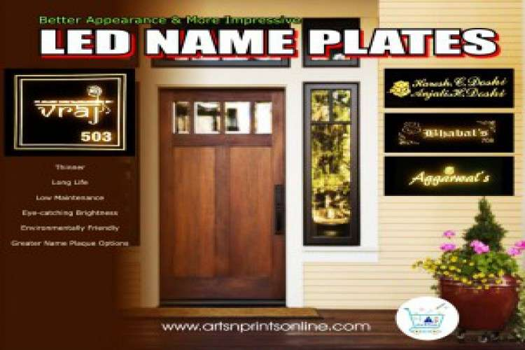 Artsnprints order online name plate for house