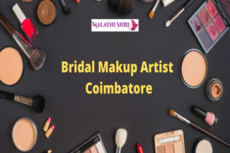 Bridal makeup artist in coimbatore   malathi shri