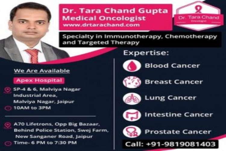 Consult with medical oncologist in jaipur for cancer treatment