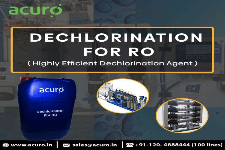 Dechlorination for reverse osmosis by acuro organics limited