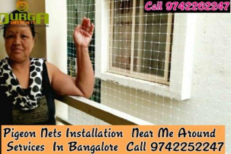 Durga pigeon nets installation near ne bangalore