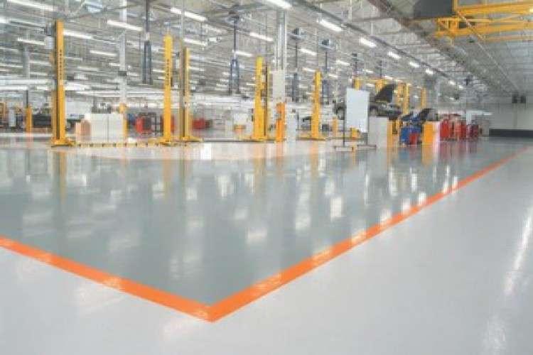 Epoxy floor sports floor