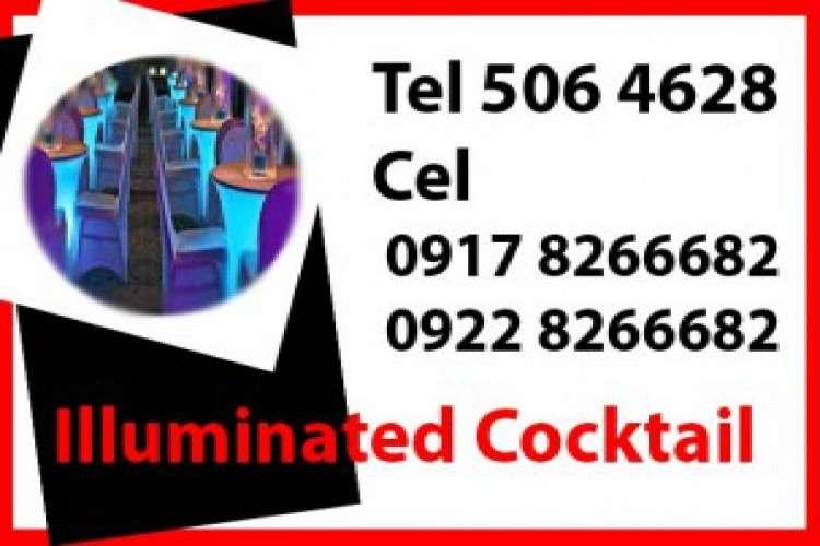 Illuminated cocktail table rent hire manila philippines