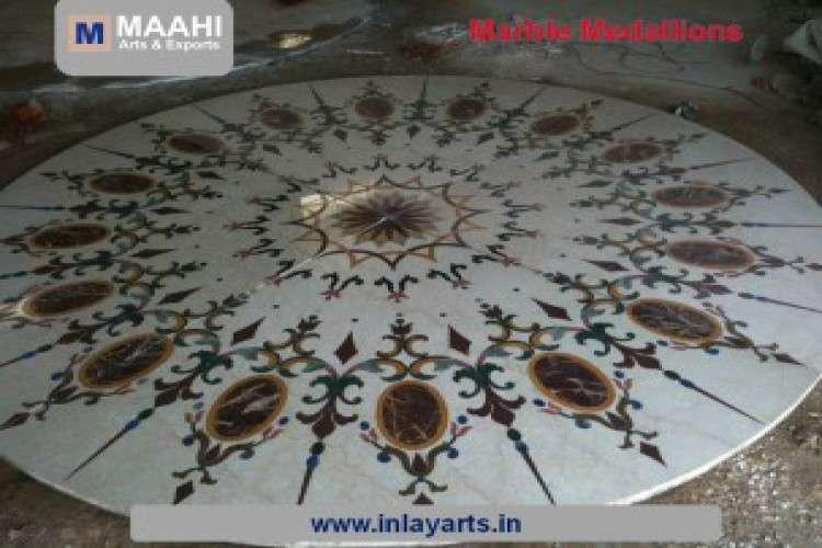 Marble inlay furniture maahi arts and exports india