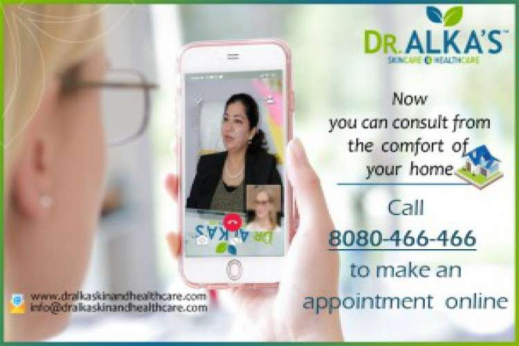 Online consultation at dr alka skincare and healthcare