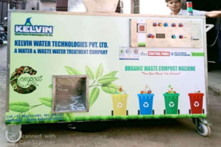 Organic waste converter machine kelvin organic waste composter