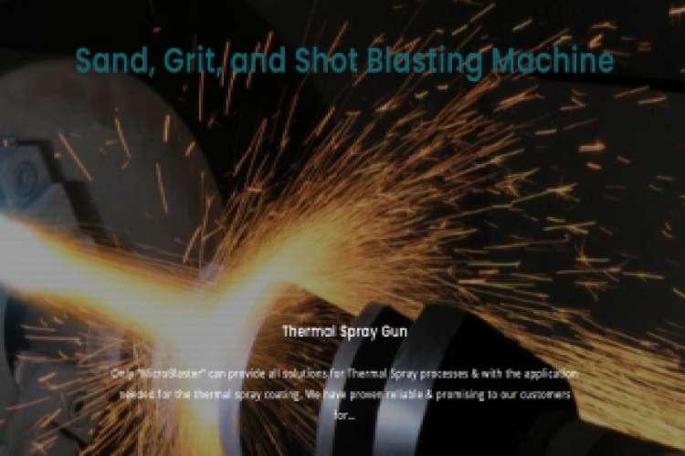 Sand blasting machine   shot and grit blasting machine
