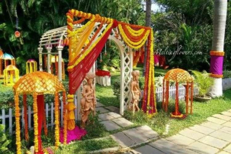 Wedding backdrop decoration reception stage decoration